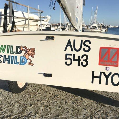 OptiWraps Optimist Sailing Dinghy Names - Wild Child